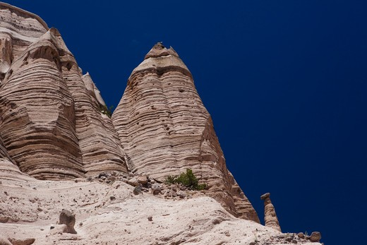Stock Photo: 1317-690 Low angle view of rock formations, Kasha-Katuwe Tent Rocks, Sandoval County, New Mexico, USA