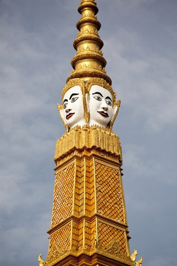 Stock Photo: 1323-1042 Carving of Buddha on the spire of a palace, Royal Palace, Phnom Penh, Cambodia