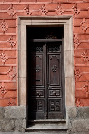 Stock Photo: 1323-1071 Close-up of a closed door, Madrid, Spain