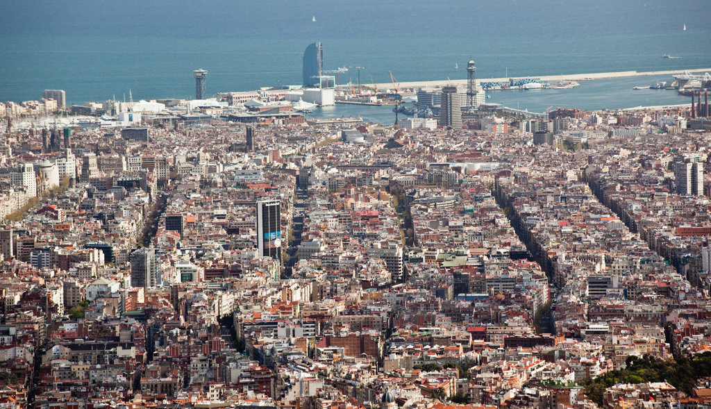 Spain, View of Barcelona : Stock Photo