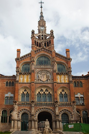 Stock Photo: 1323-1162 Spain, Barcelona, Hospital de la Santa Creu i de Sant Pau
