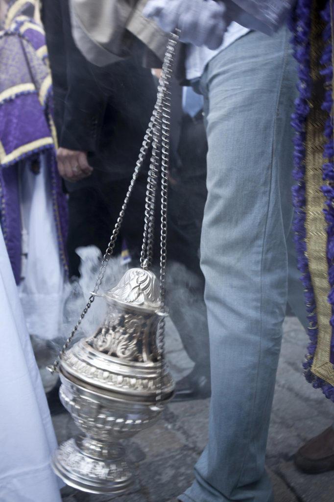 Spain, Seville, Swinging Incensarios : Stock Photo