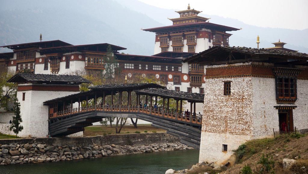Bhutan, Punakha Dzong : Stock Photo