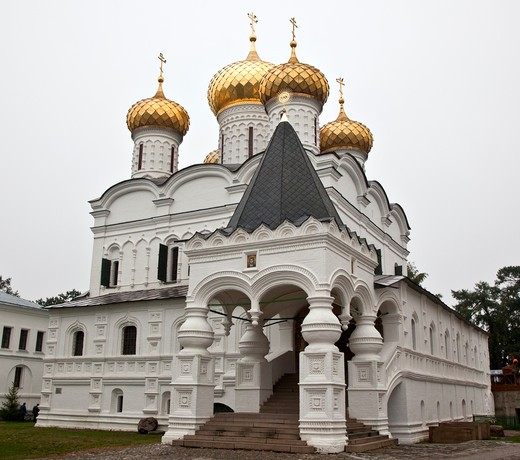 Facade of a Trinity church, Monastery of St Ipaty, Kostroma, Russia : Stock Photo