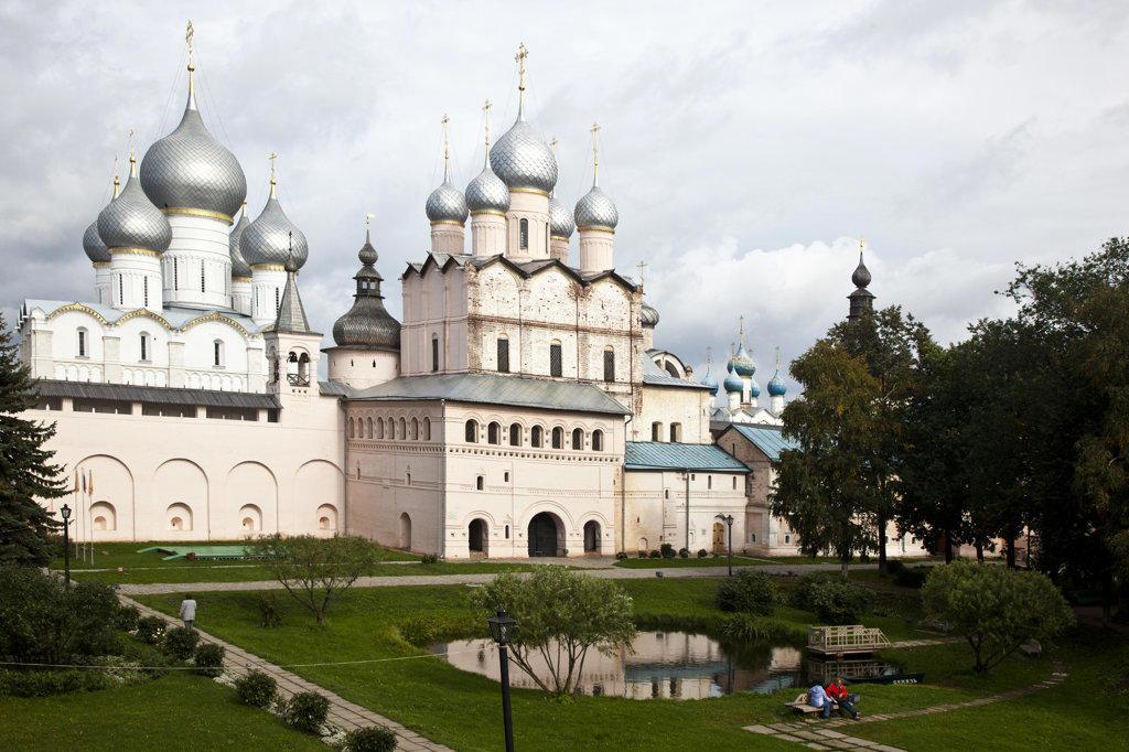 Stock Photo: 1323-1662 Churches in a town, Church of The Resurrection, Rostov Kremlin, Rostov, Yaroslavl Oblast, Russia