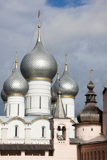 Stock Photo: 1323-1664 Low angle view of a church, Church of The Resurrection, Rostov Kremlin, Rostov, Yaroslavl Oblast, Russia