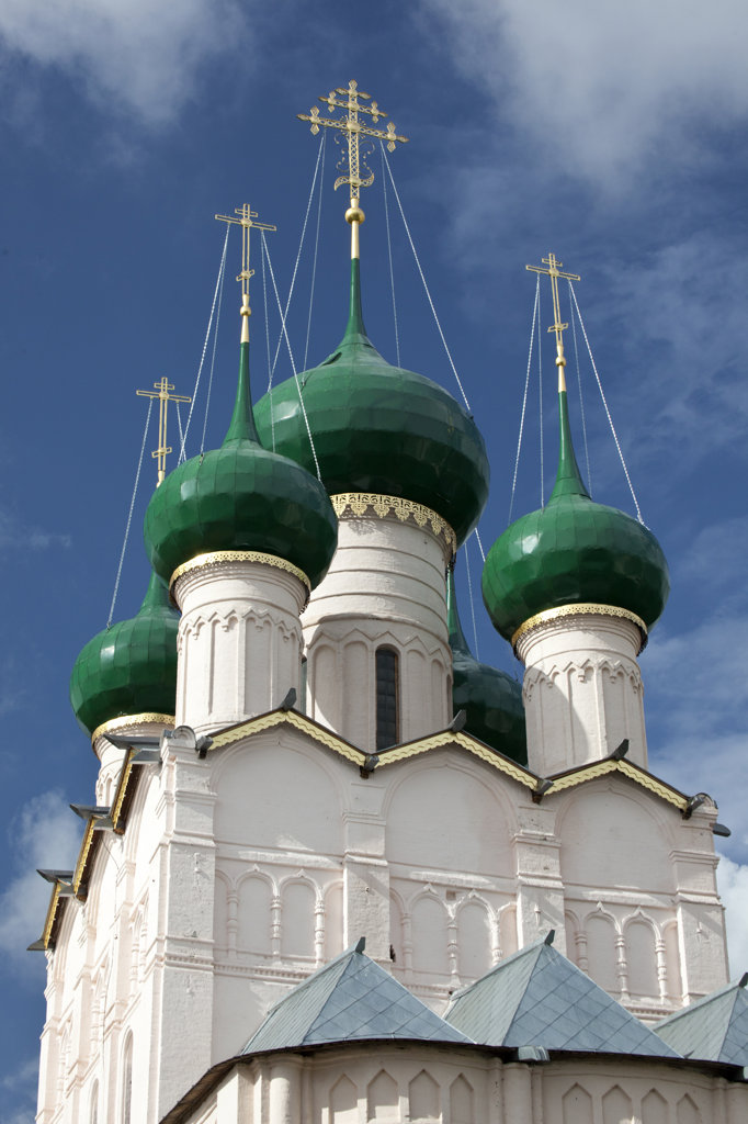 Stock Photo: 1323-1665 Low angle view of a church, Church of The St. John The Divine, Rostov Kremlin, Rostov, Yaroslavl Oblast, Russia