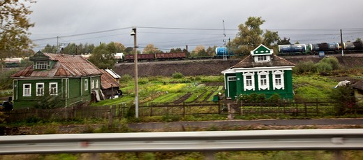 Stock Photo: 1323-1710 Dachas in the countryside, Russia