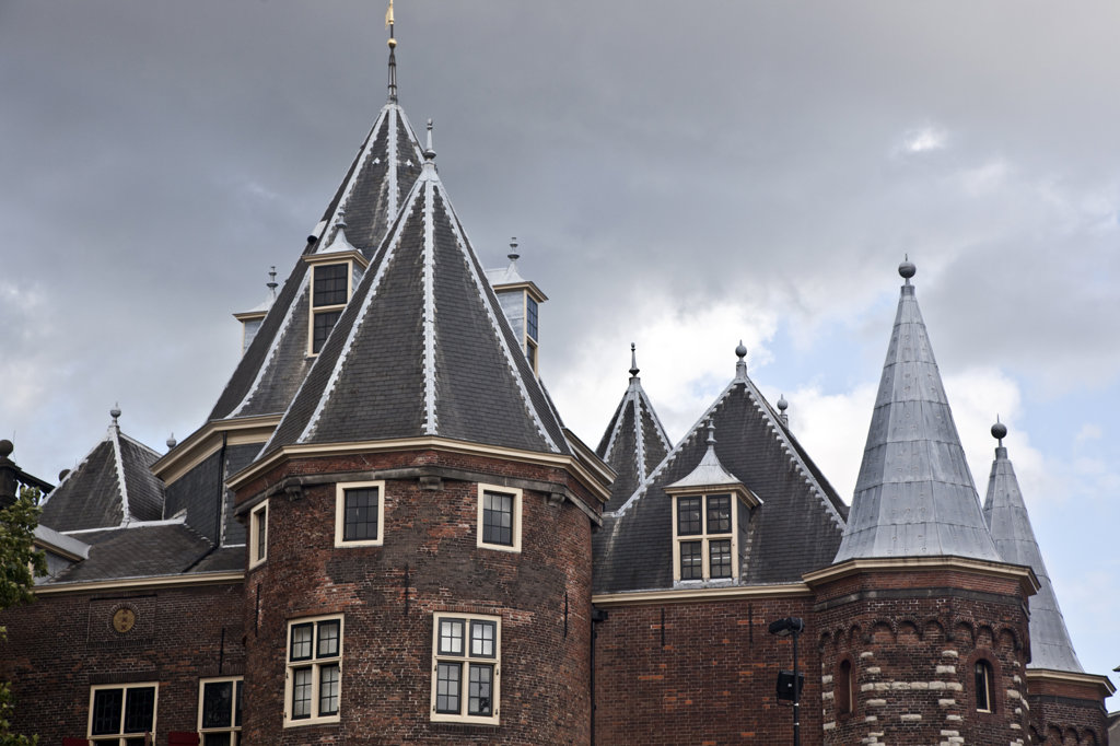 Stock Photo: 1323-1913 Low angle view of a building, The Waag, Amsterdam, Netherlands