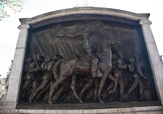Stock Photo: 1323-2060 USA, Massachusetts, Boston, Civil War Memorial for the 54th Regiment