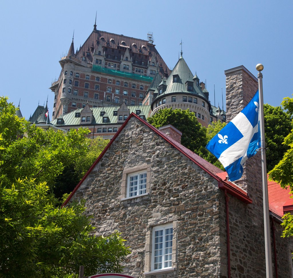 Stock Photo: 1323-2109 Canada, Quebec City, Low angled view of Chateau Frontenac