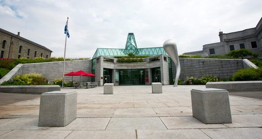 Entrance to the Musee National Des Beaux-Arts Du Quebec and the Julie And Christian Lassonde Sculpture Garden, Quebec City, Quebec, Canada : Stock Photo