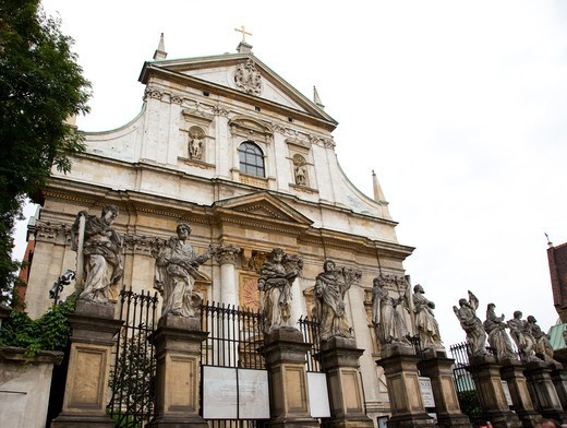 Stock Photo: 1323-2327 Poland, Cracow, Jesuit Church of St. Peter and Paul and 12 Apostles