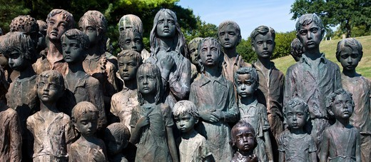 Stock Photo: 1323-2438 Czech Republic, Children's War Victim's Memorial at Lidice