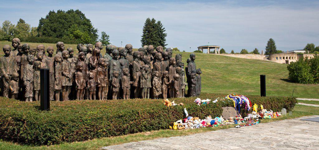 Stock Photo: 1323-2440 Czech Republic, Children's War Victim's Memorial at Lidice