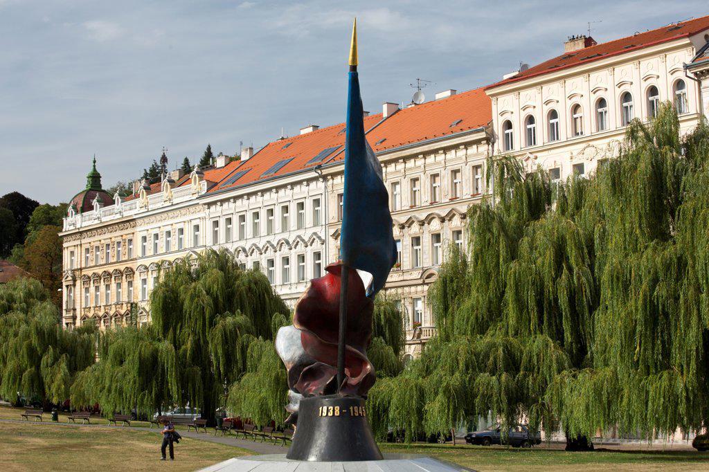 Czech Republic, Prague, WW II Memorial in Mala Strana : Stock Photo