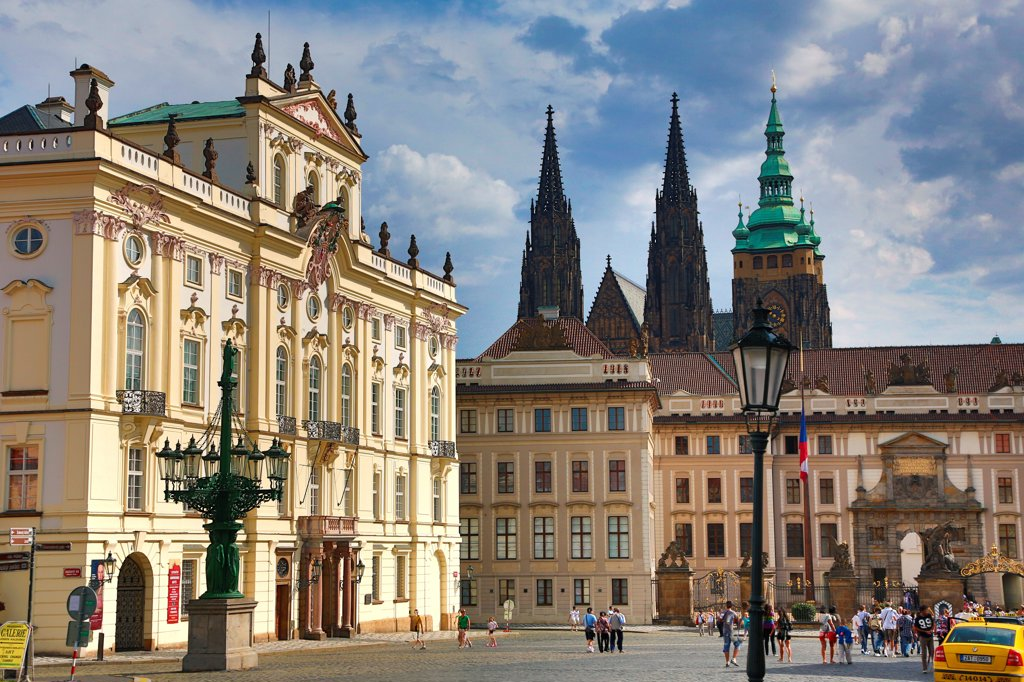 Czech Republic, Prague, Entrance to Prague Castle : Stock Photo