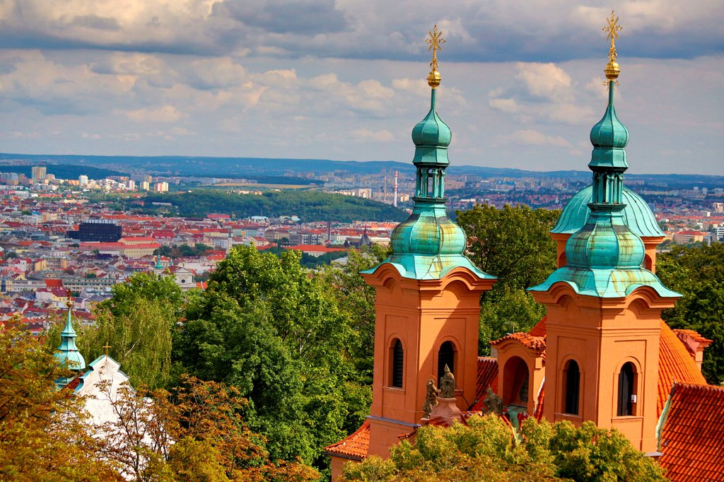 Czech Republic, Prague, Petrin Hill, Church of St Vavrinec : Stock Photo