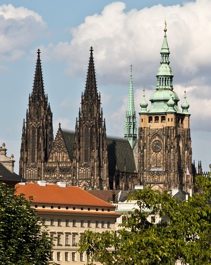 Stock Photo: 1323-2647 Czech Republic, Prague, Castle