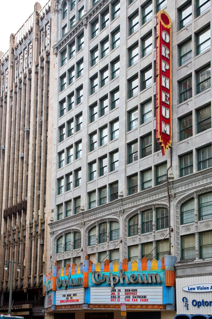 Stock Photo: 1323-3535 Orpheum Theater building in downtown, Los Angeles, California, USA