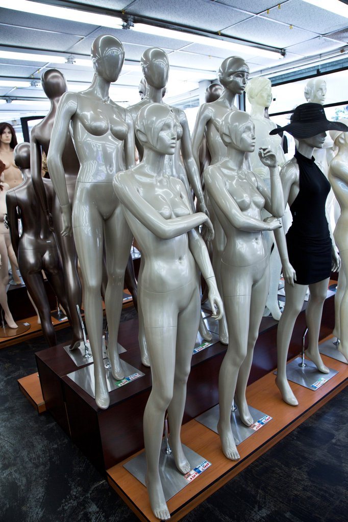 Stock Photo: 1323-3555 Mannequins in a store, Los Angeles, California, USA