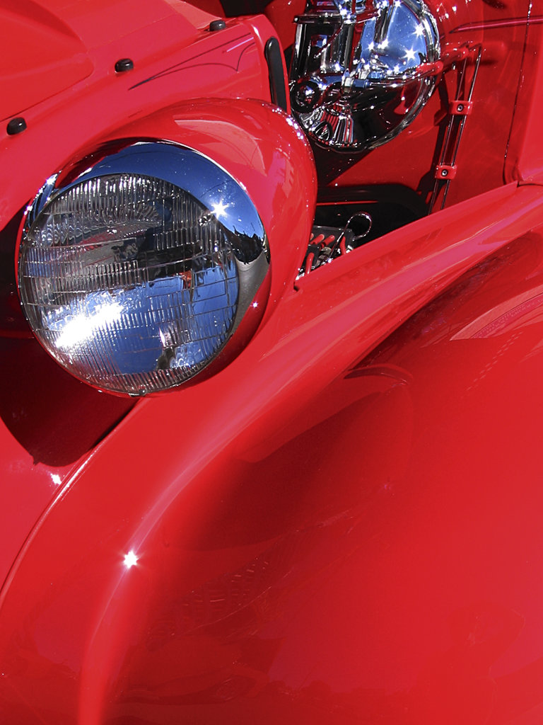Close-up of a car headlight : Stock Photo