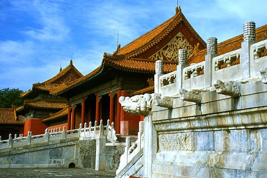 Stock Photo: 1323-661 Facade of a palace, Forbidden City, Beijing, China