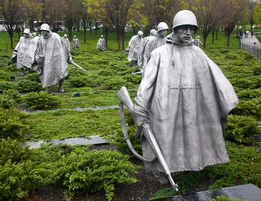 Korean War Memorial Washington D.C., USA  : Stock Photo