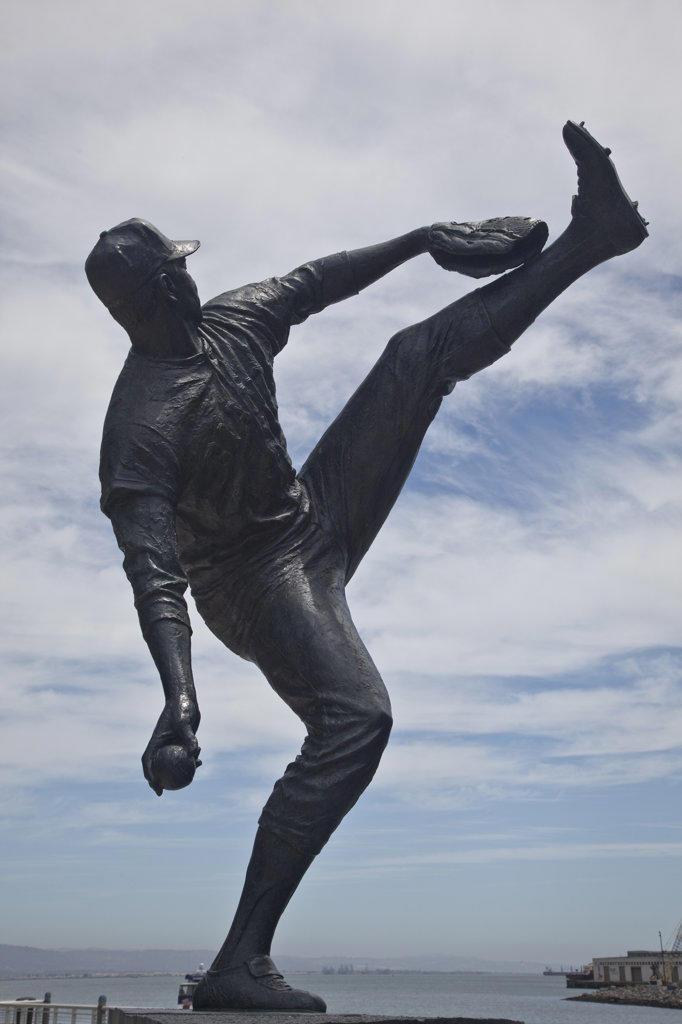 Statue of Juan Marichal, AT&T Park, San Francisco, California, USA : Stock Photo