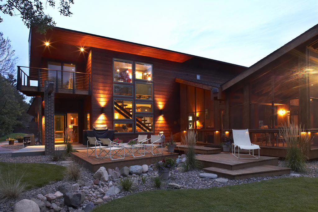 Stock Photo: 1329-1038 Facade of a house, Eau Claire, Eau Claire County, Wisconsin, USA