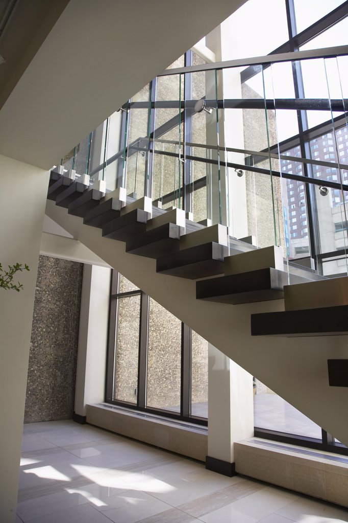 Stock Photo: 1329-1330 Staircase in an office building