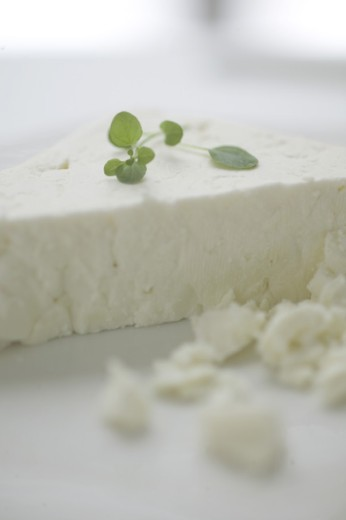 Close-up of a piece of cheese : Stock Photo
