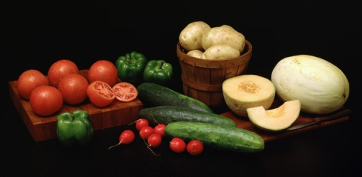 Stock Photo: 1329R-400 Close-up of various vegetables