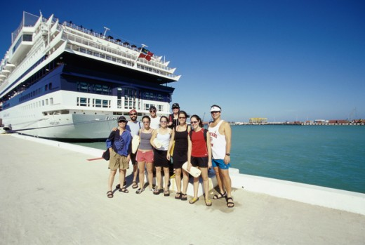 Portrait of a group of passengers : Stock Photo