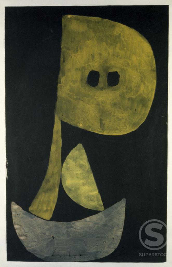 Solemn  1939 Paul Klee (1879-1940/Swiss)  Watercolor Kunstmuseum Berne, Switzerland     : Stock Photo
