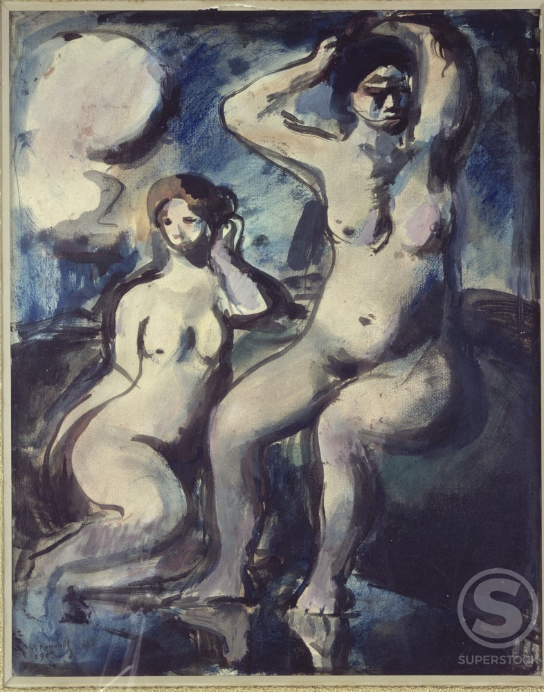 Stock Photo: 1330-1023 Bathers by Georges Rouault, 1903, 1871-1958, France, Paris, Private Collection