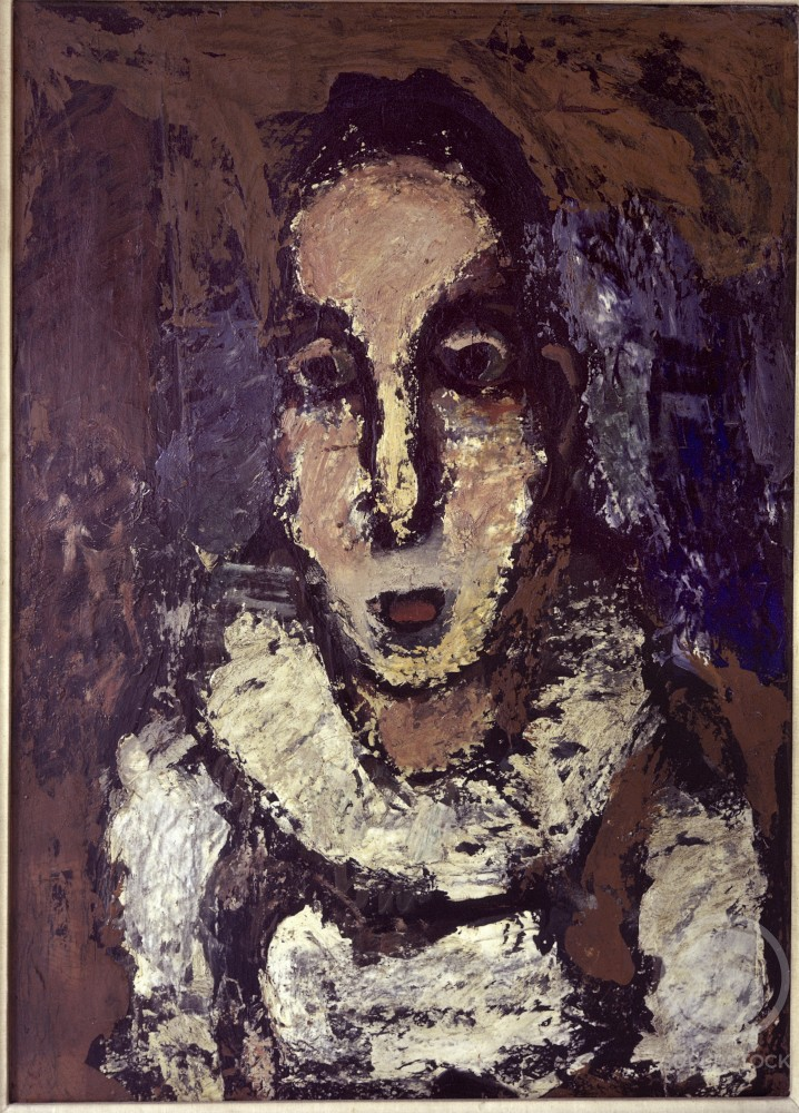 Pierrot by Georges Rouault, 1920, 1871-1958, Holland, Amsterdam, Stedelijk Museum : Stock Photo