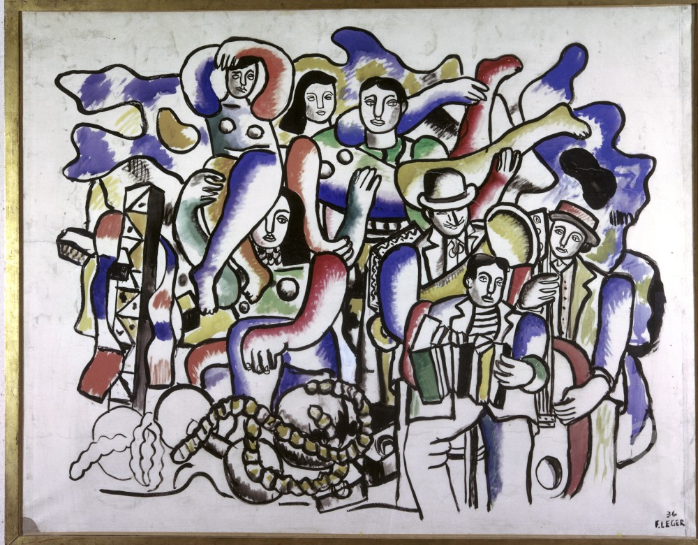 Stock Photo: 1330-1049 The Parade by Fernand Leger, 1936, 1881-1955, Germany, Stuttgart, Private Collection