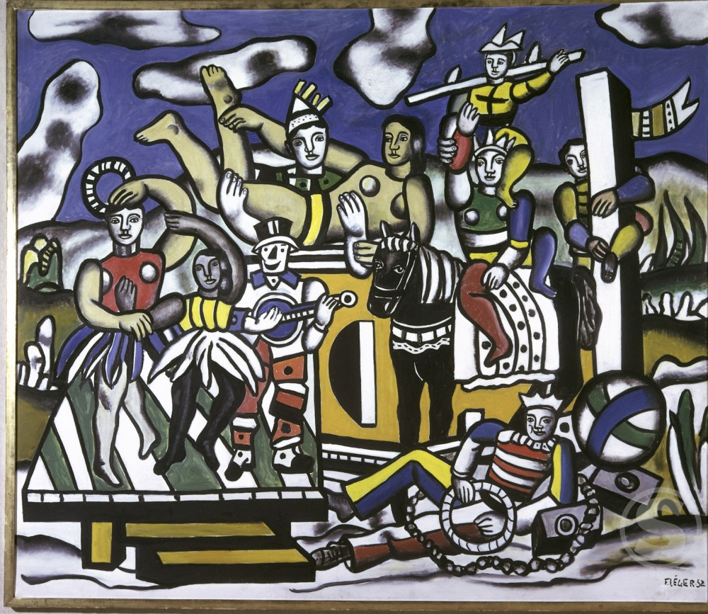 The Great Parade by Fernand Leger, 1952, 1881-1955, Private Collection : Stock Photo