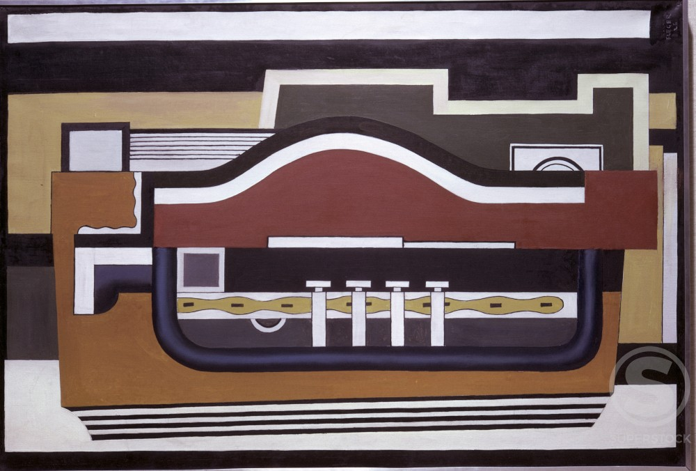 Stock Photo: 1330-1053 The Accordian by Fernand Leger, 1926, 1881-1955, France, Paris, Centre Georges Pompidou, Musee National d'Art Moderne