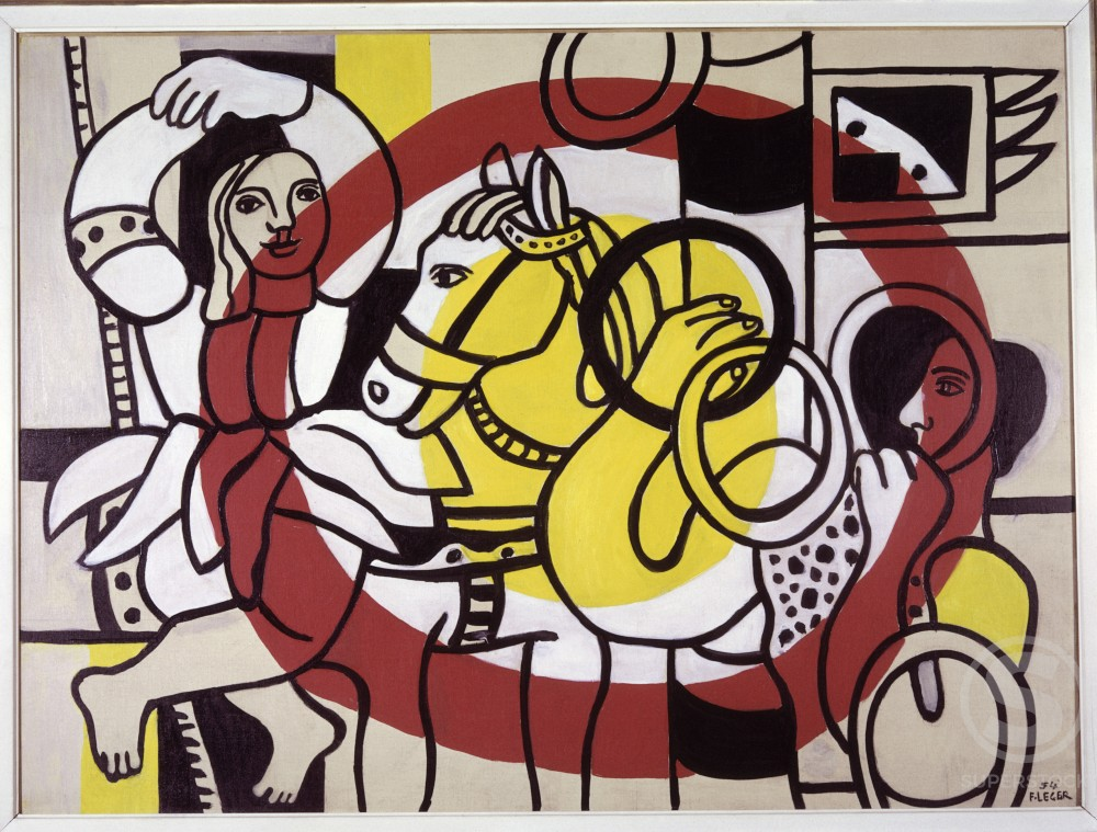 Stock Photo: 1330-1055 The Juggler and The Dancer by Fernand Leger, 1954, 1881-1955, USA, New York, Sidney Janis Gallery