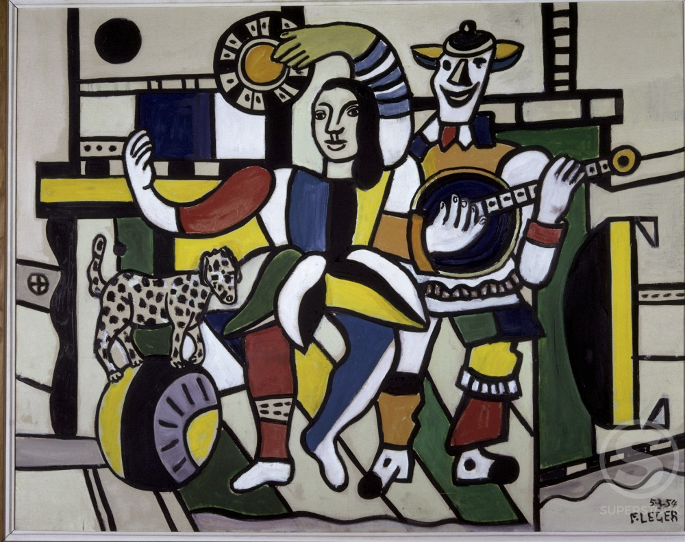 Stock Photo: 1330-1059 The Dog On A Ball by Fernand Leger, 1953-54, 1881-1955, Private Collection