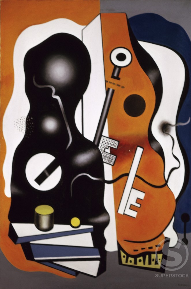 Still Life With Two Keys by Fernand Leger, 1930, 1881-1955, France, Paris, Centre Georges Pompidou, Musee National d' Art Moderne : Stock Photo