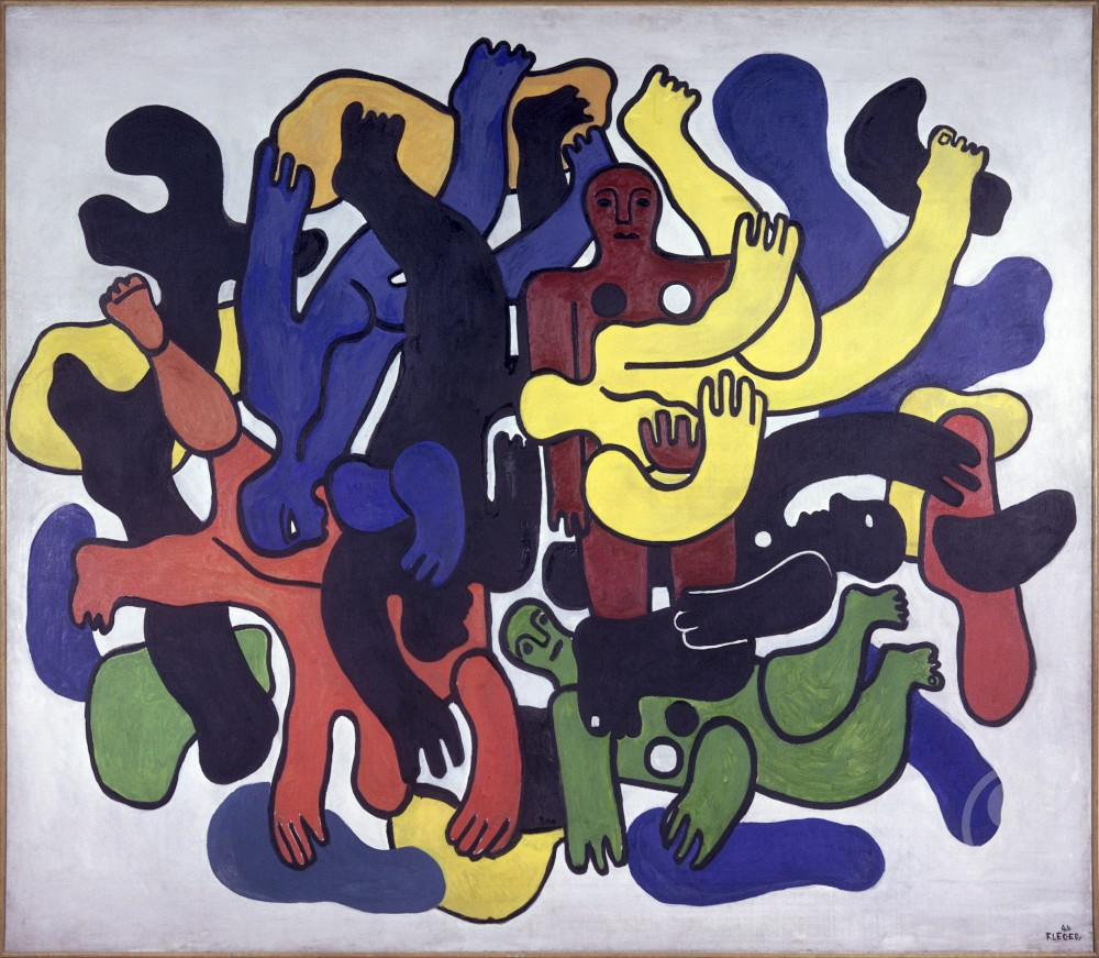 Stock Photo: 1330-1068 The Big Black Divers by Fernand Leger, 1944, 1881-1955, France, Paris, Centre Georges Pompidou, Musee National d' Art Moderne