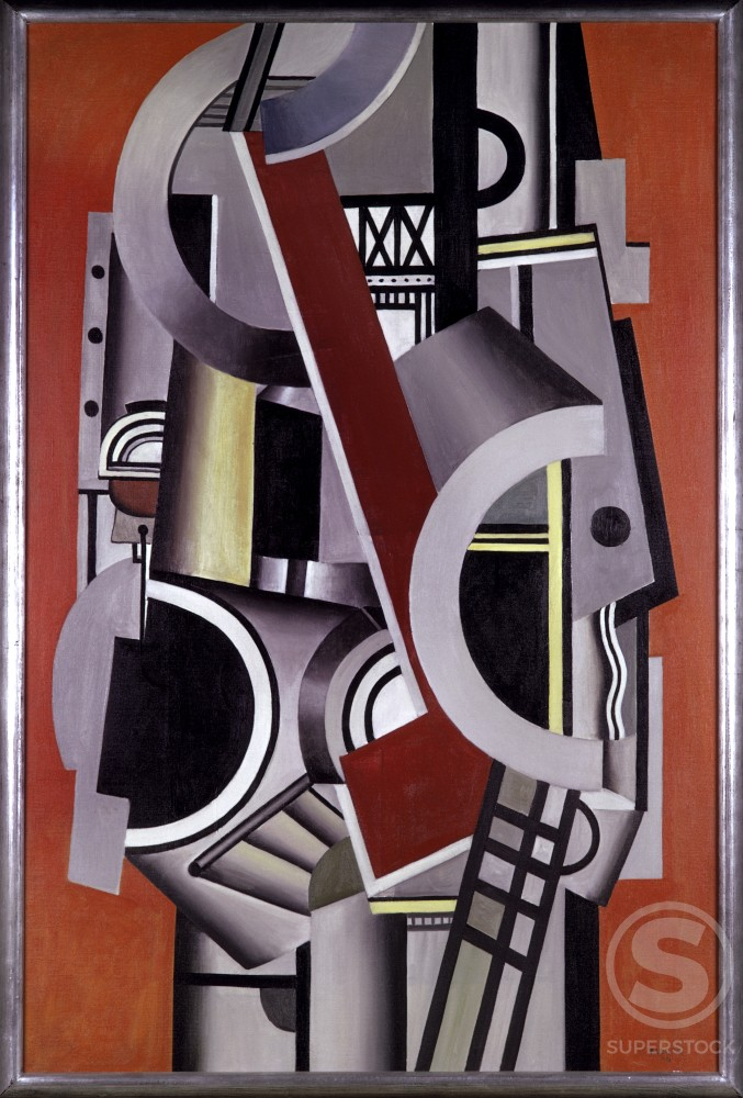 Stock Photo: 1330-1071 Mechanical Elements by Fernand Leger, 1924, 1881-1955, France, Paris, Centre Georges Pompidou, Musee National d' Art Moderne