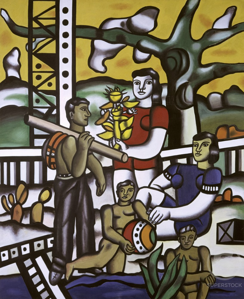 The Camper by Fernand Leger, 1954, 1881-1955, France, Biot, Fernand Leger Museum : Stock Photo