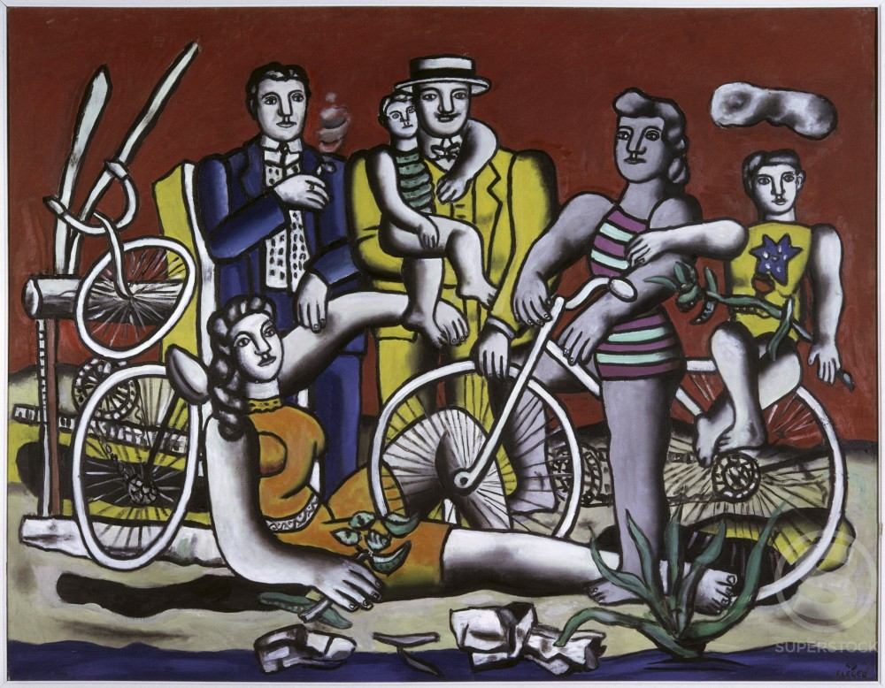 Stock Photo: 1330-1076 Leisures by Fernand Leger, 1949, 1881-1955, France, Biot, Fernand Leger Museum