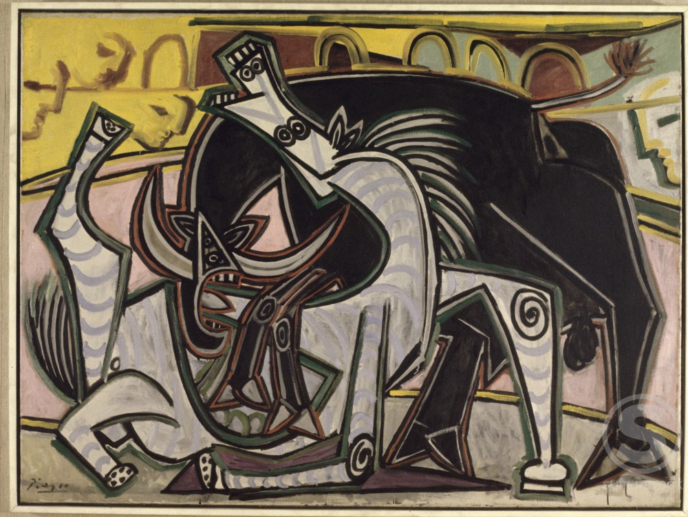 Stock Photo: 1330-1104 Bullfight by Pablo Picasso, 1934, 1881-1973, USA, New York, Collection of Victor Ganz