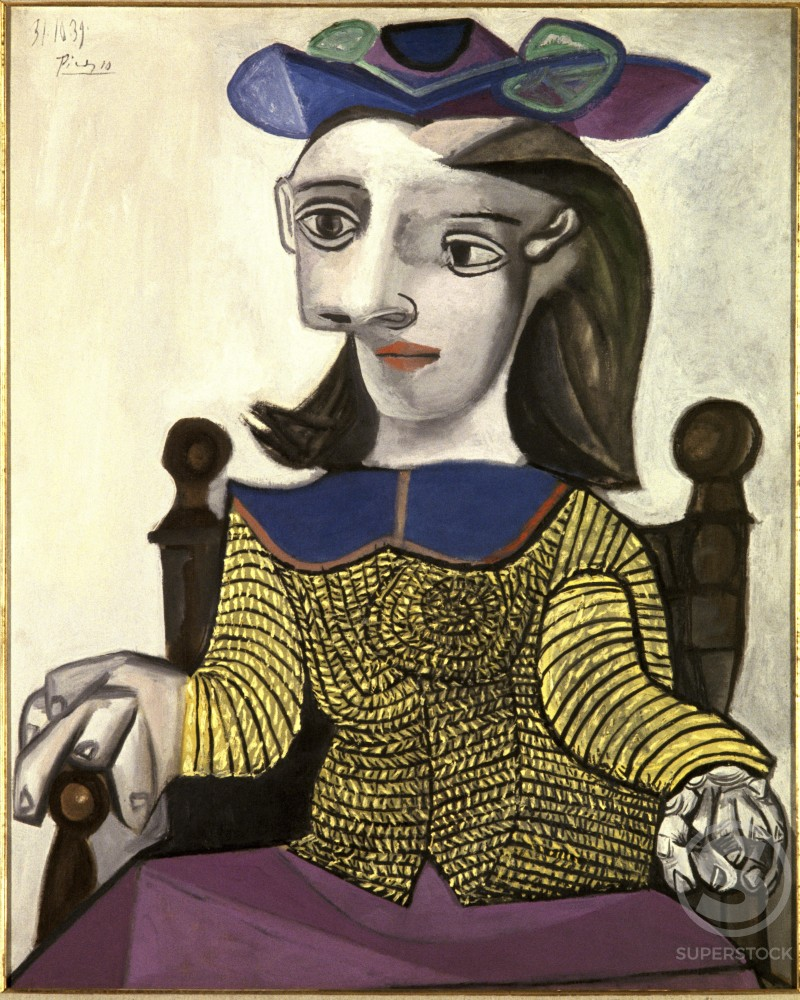 Yellow Sweater by Pablo Picasso, Oil painting, 31 October 1939, 1881-1973, France, Paris, Collection H. Berggruen : Stock Photo