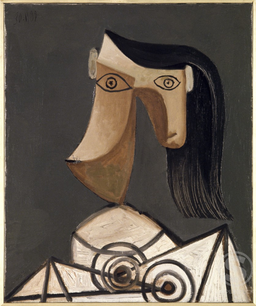 Stock Photo: 1330-1122 Head Of Woman by Pablo Picasso, Oil painting, 30 November 1939, 1881-1973